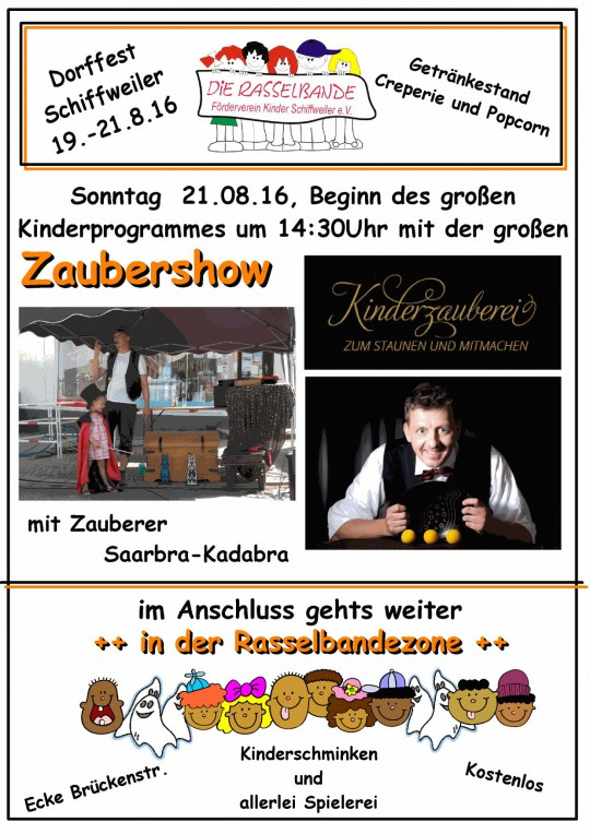 Zauberer-Saarland-Schiffweiler-Kinder-Schiffweiler-Rasselband