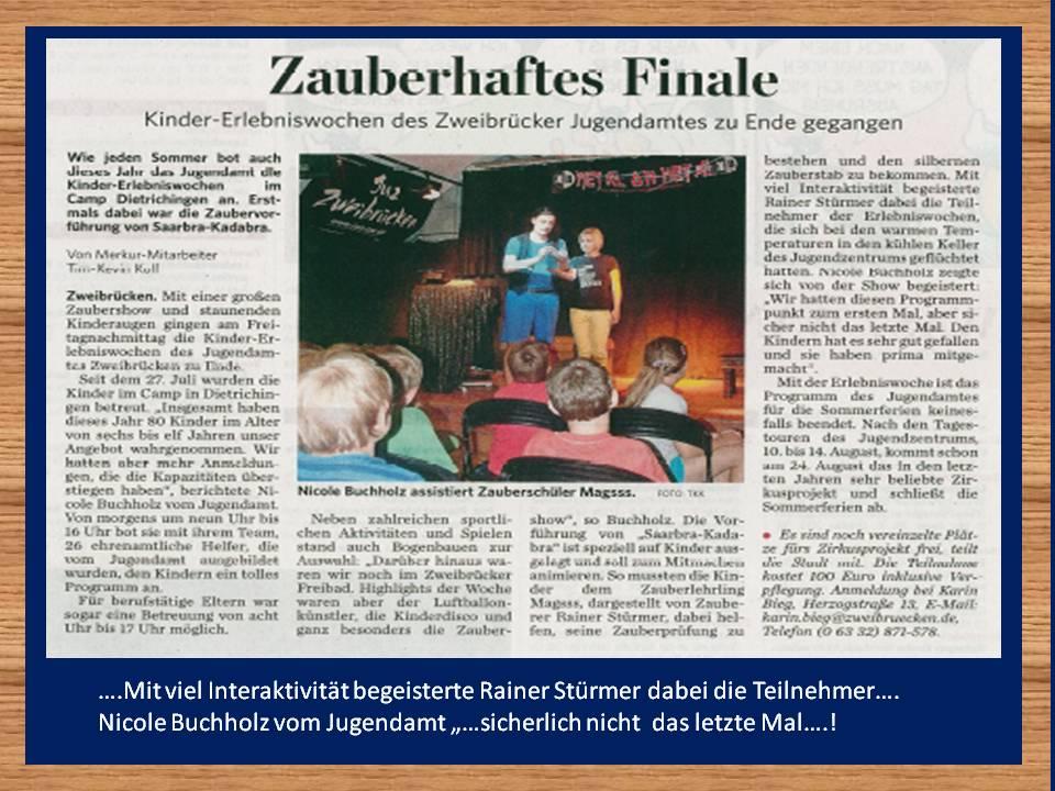 Presseartikel-Pfälzischer-Merkur-Zauberer-Saarbra-Kadabra-Zweibrücken-Ferienprogramm-2015